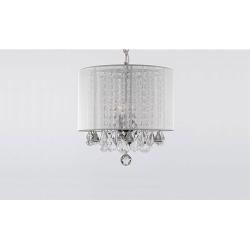 Chandeliers With Large White Shade