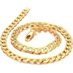 Yellow Gold Plated Men's Chain Necklace Oblate Twisted Link Chain found on MODAPINS from groupon for USD $8.99