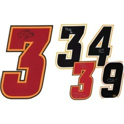 Calgary Flames NHL Authentic Autographed Jersey Numbers