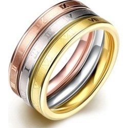 tricolor wedding rings Women's Ring 3 Pcs a set found on MODAPINS from groupon for USD $16.99