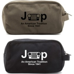 Jeep An American Tradition Canvas Shower Kit Travel Toiletry Bag Case found on Bargain Bro Philippines from groupon for $12.49