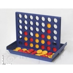 Match4 Game Connect Four Checkers to Win Portable Travel Size Family