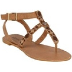 Xehar Women's Ankle Strap T-Strap Open Toe Summer Thong Flat Sandal