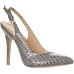 Riverberry 'Lucy' Pointed-Toe Sling Back Pump Heels, Grey Snake