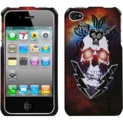 Insten Lightning Skull Case For iPhone 4 4S