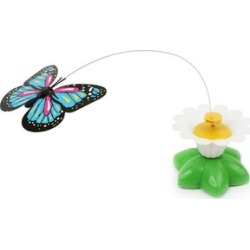 New Unique Electric Rotating Colorful Butterfly Funny Cat Toys