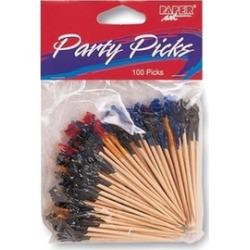 "Paper Art 01-743 Party Picks 2-1/2"" 100/Pkg"