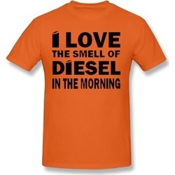 DSGAW The Smell Of Diesel In Morning T-shirt Orange