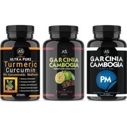 Turmeric Curcumin, Garcinia Cambogia with Forskolin, and Garcinia Cambogia PM (3-Pack)