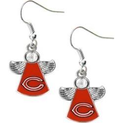 Sports Team Logo NFL Crystal Angel Wings Dangle logo Earring Charm Gift Set