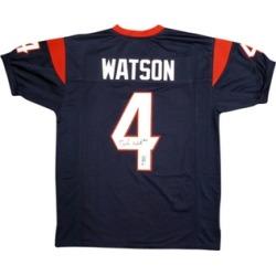 Autographed Deshaun Watson Houston Texans Custom Jersey Blue FHS275