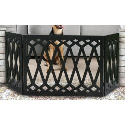 Diamond Pattern Wooden Pet Gate
