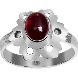 Orchid Jewelry 925 Sterling Silver 1 6/7 Carat Garnet Flower Ring