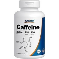 Caffeine Pills, 200mg Per Serving (250 Caps)