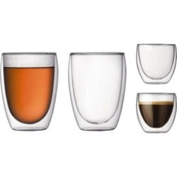 Double Wall Drinking Glasses (250ml & 450ml)