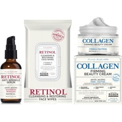 Rosen Apothecary Anti-Wrinkle Serum, Firming Collagen Cream, and Optional Face Wipes found on MODAPINS from groupon for USD $25.99