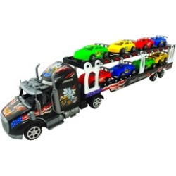 """Toy Truck And Trailer Play Set 23"""" Inch Long Truck Play Set For Boys"""