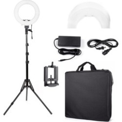 "12""LED 5500K Dimmable Continuous Lighting Photo Video Stand Ring Light"