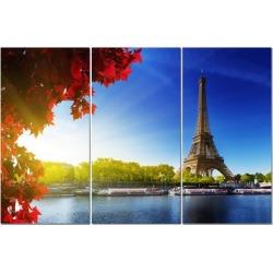 """Split Canvas Art Set 12""""x24"""" 3 Pieces Paris"""