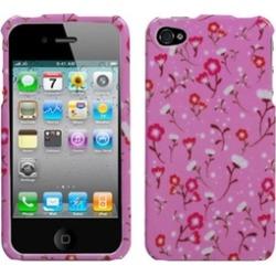 Insten Starburst Flower Pink Case For iPhone 4 4S
