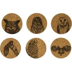Corkology 411 Owls Cork Coaster Sets