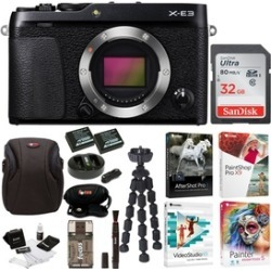 Fujifilm X-E3 Mirrorless Camera (Black) with 32GB Card and Accessories Bundle