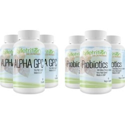 Lyfetrition Alpha GPC Nootropic or Probiotics 100 Billion CFU's