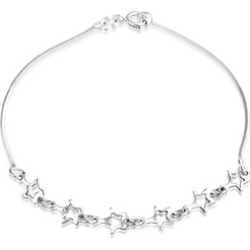 Bling Jewelry 925 Silver Open Star Charm Bracelet Patriotic Jewelry