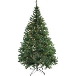 "7.5' x 54"" Pre-Lit Niagara Pine Medium Artificial Christmas Tree"