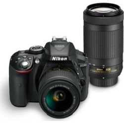 Nikon D5300 24.2MP 1080p Full HD DSLR Camera with Nikkor AF-P 18-55mm and 70-300mm Lenses