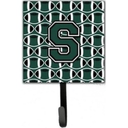 Carolines Treasures CJ1071-SSH4 Letter S Football Green & White Leash