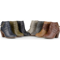 Journee Collection Women's Multi-Strap Ankle Boots