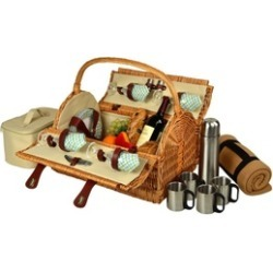 Picnic at Ascot 710BC-G Yorkshire Picnic Basket for 4 with Blanket found on Bargain Bro India from groupon for $208.97