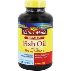 Nature Made Burp-Less Fish Oil Dietary Supplements (150- or 300-Count)