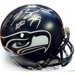 Autographed Red Bryant Seattle Seahawks Mini Helmet