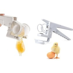 Egg Cracker With Egg Separating Attachment