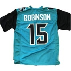 Autographed Allen Robinson Jacksonville Jaguars Custom Jersey Teal FHS