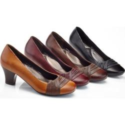 Rasolli Gina Women's Two-Tone Comfort Heels