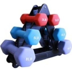 Amber Sporting Goods SDNS-32 32 Pound Neoprene Dumbell Set