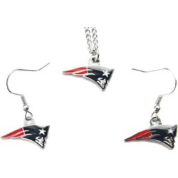 Sports Team Logo Necklace and Dangle Earring Charm Set