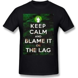 Jatez Unisex Youqian Keep Calm And Blame It On The Lag Black Tee