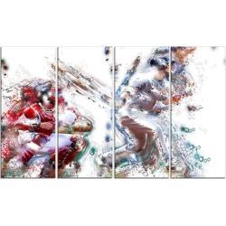 Baseball Strike - Large Sport Canvas Art Print