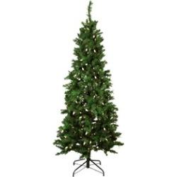 7' Single Plug Slim Mixed Long Needle Pine Artificial Christmas Tree