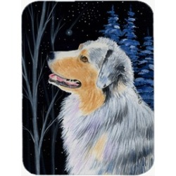 Carolines Treasures SS8382LCB Starry Night Australian Shepherd Glass Cutting Boa