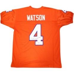Autographed DeShaun Watson Clemson Tigers Orange Custom Jersey