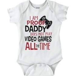 Proof Daddy Play Video Game All Time Cute Baby Clothes XBOX Romper
