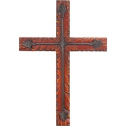 Beautiful Wood and Iron Decorative Hanging Wall Cross