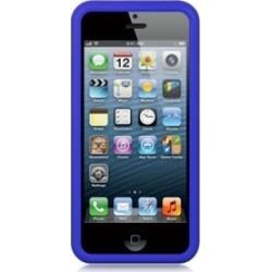 Insten Premium TPU Rubber Skin Gel Back Case For iPhone 5/5S - Blue