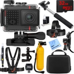 Garmin VIRB Ultra 30 HD 4K Ultra HD Waterproof Action Camera with Accessories Bundle