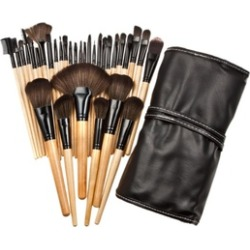 Professional Wooden Cosmetic Makeup Brush Set (32-Piece)